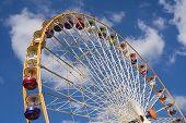 huge ferris wheel at the vincennes fair (foire du trone) - paris, france poster