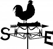 A weather vane ready to spin around. which is a vector and artistic poster