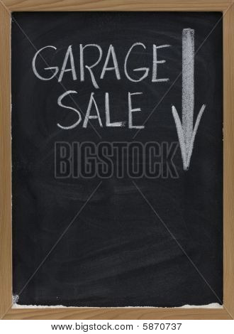 Garage Sale Blackboard Sign