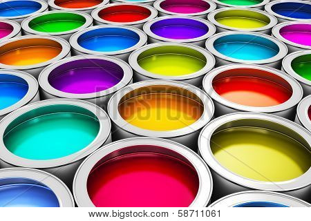 Color paint cans