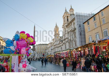 Winter Market at the Piazza Navona