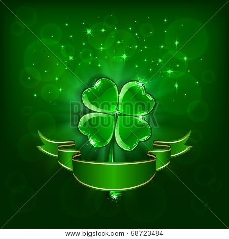 Patrick day green clover