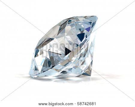 Diamond on white background.