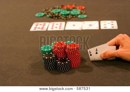 Four Aces Playing Hold 'em