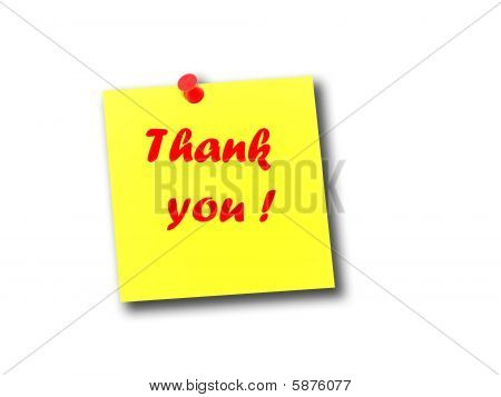 Note Thank You