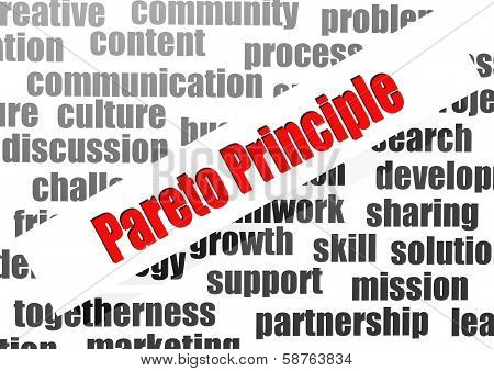Pareto Principle Word Cloud