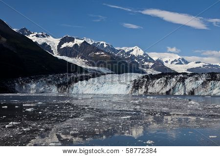 Ice melting from glacier in College Fjord