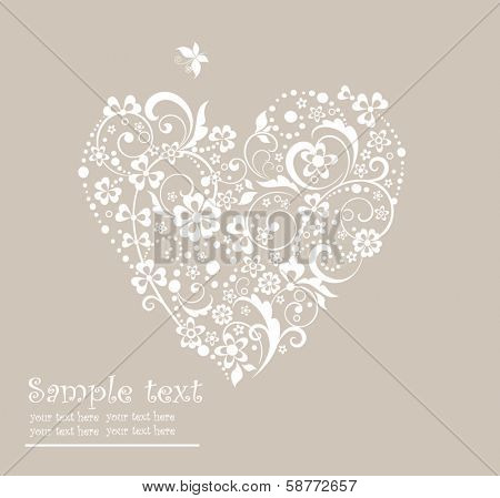 Greeting heart shape