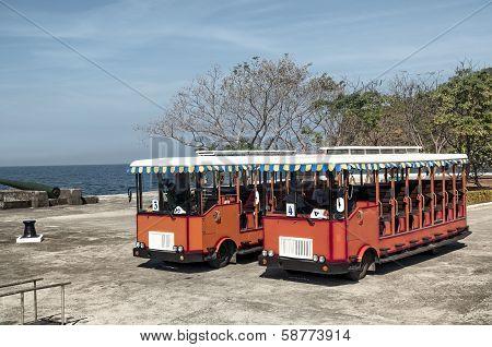 Travia buses, Corregidor Island, Philippines