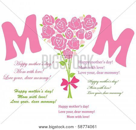 Bouquet for mom poster