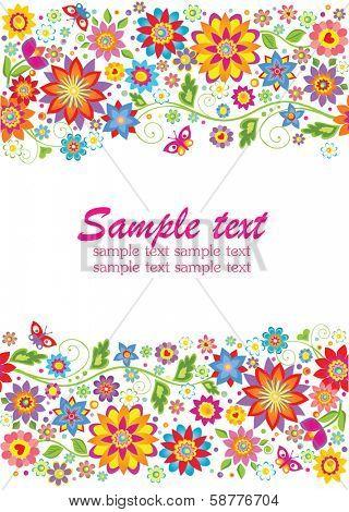 Summery floral border