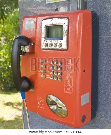 Orange Public Phone