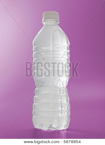 Water Bottle Frosted On Magenta colored background
