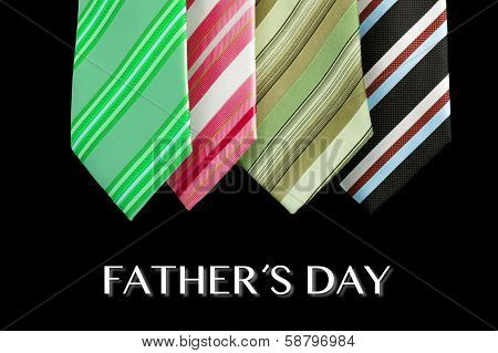 father's day tie card as greeting card with message poster