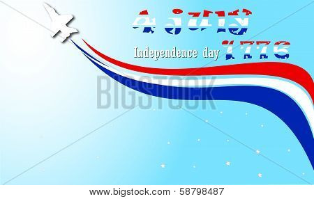 4th July and Jet Fighters in USA poster
