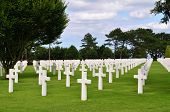 World war two cemetry in Omaha Beach, Normandy, France, Europe poster