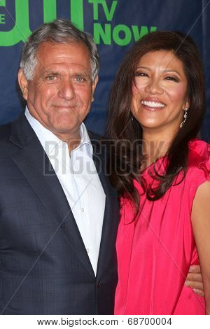 LOS ANGELES - JUL 17:  Les Moonves, Julie Chen at the CBS TCA July 2014 Party at the Pacific Design Center on July 17, 2014 in West Hollywood, CA