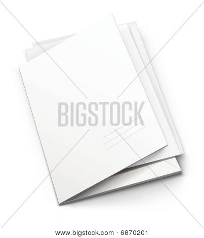 White Folder With Blank Titular Cover
