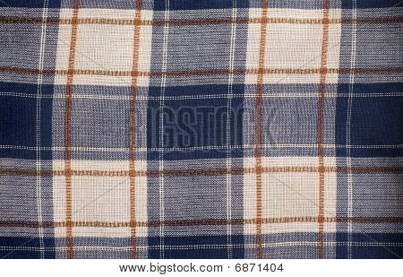Piece of checked cloth