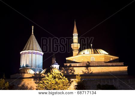 Mevlana Museum (night)