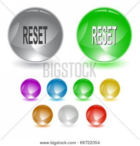 Reset. Raster interface element.