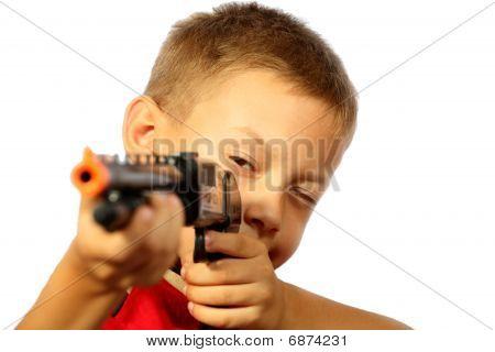 boy and a gun