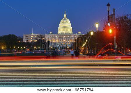 United States Capitol at night - Washington D.C.