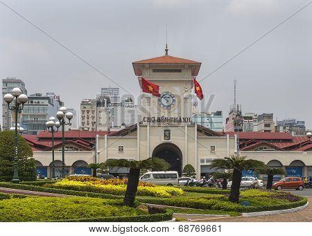The Ben Thanh Market In Saigon.