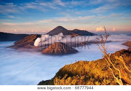 Sunrise over Mt. Bromo