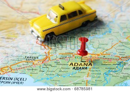 Adana ,turkey  Map Taxi