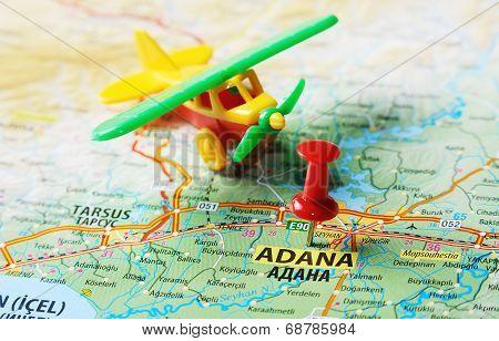 Adana ,turkey  Map Airport