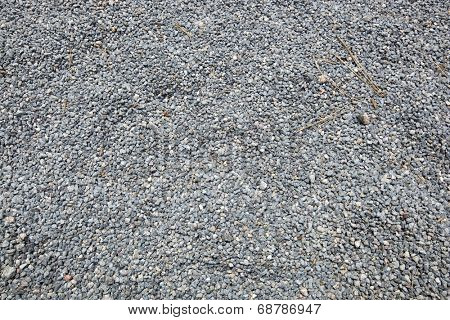 Close-up of fine gravel pile