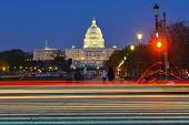 United States Capitol at night - Washington D.C. poster