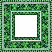 set of three celtic borders editable at any size poster