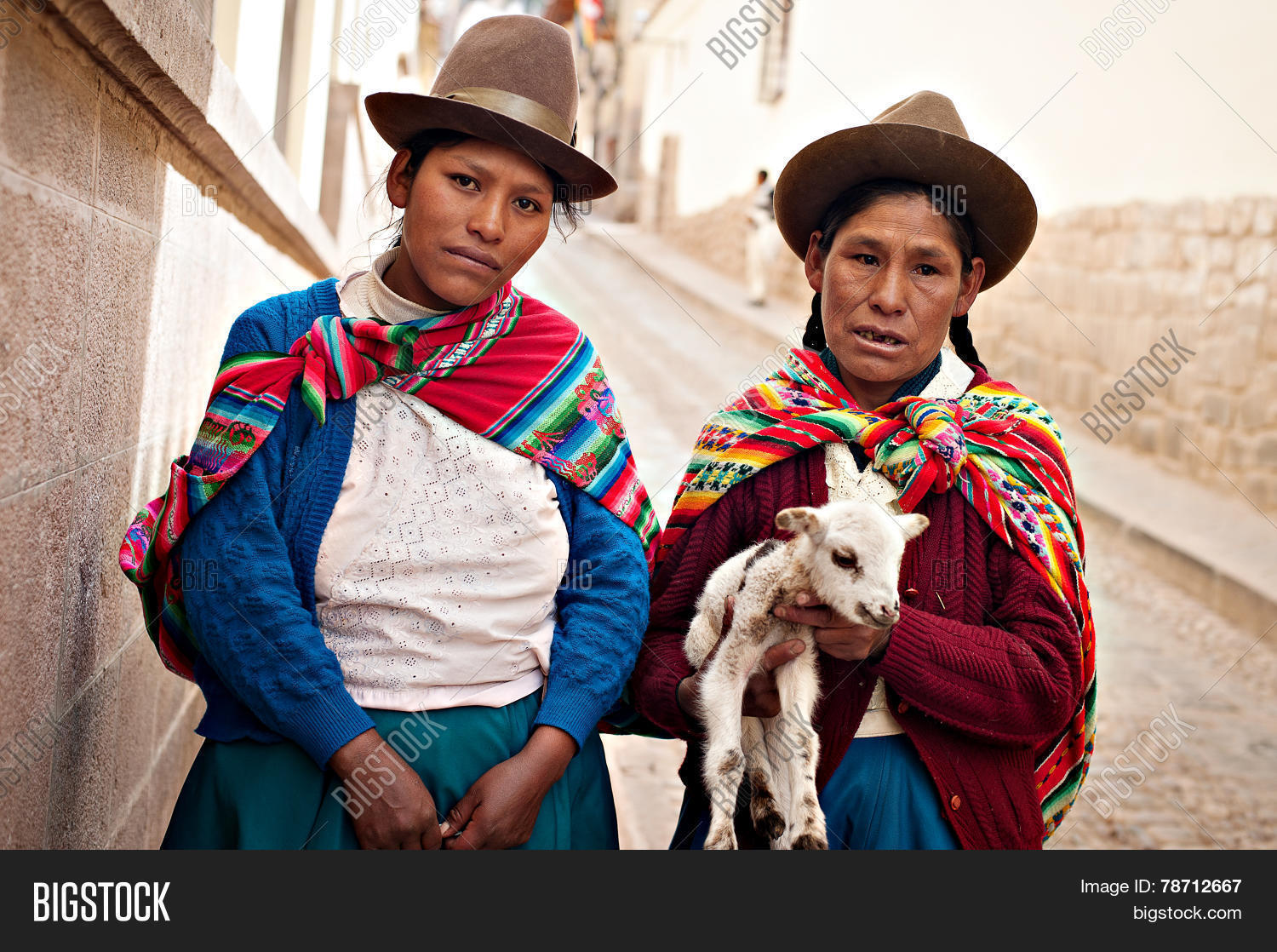 Peruvian Women Image Photo Free Trial Bigstock