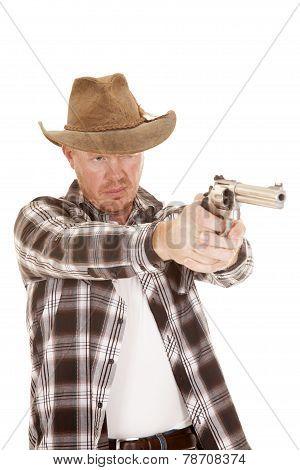 Cowboy Aiming A Gun