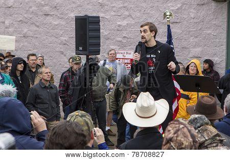 Gavin Seim At Protest.