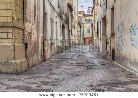 Narrow Alley In The Old Town