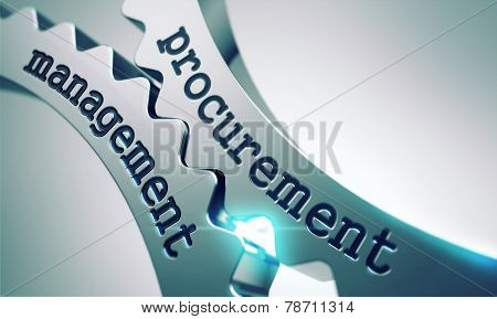 Procurement Management Concept on the Gears.