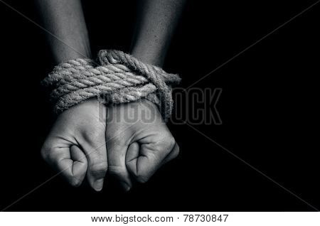Human Trafficking - Concept Photo