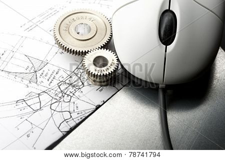 Mechanical Ratchets, Drafting And Mouse