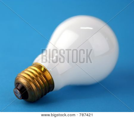 Lamp on blue