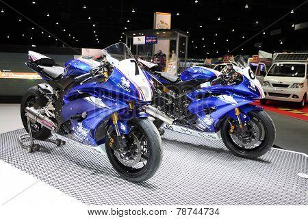 Bangkok - November 28: Yamaha Motorcycle On Display At The Motor Expo 2014 On November 28, 2014 In B