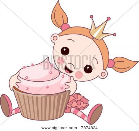 Wonderful princess and cupcake