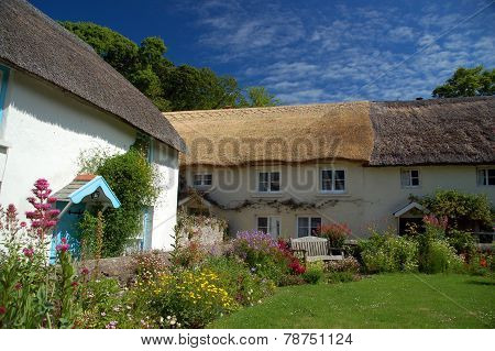 English Thatched Cottages