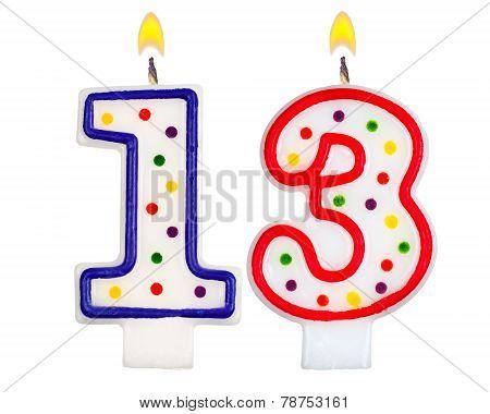 Birthday Candles Number Thirteen