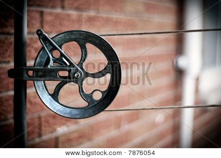 Aluminum Clothes Lines Pully And Cables
