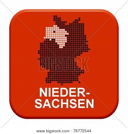 Red Button: German Region Niedersachsen,