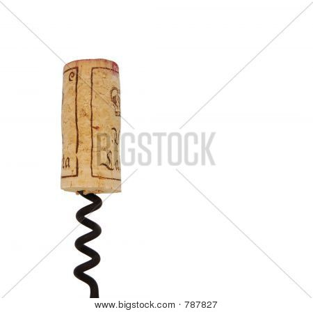 cork on corkscrew