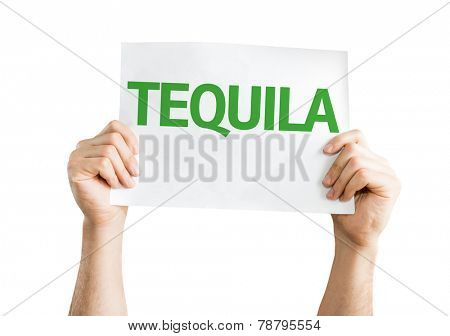 Tequila card isolated on white background